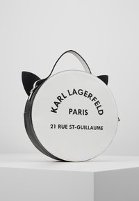 KARL LAGERFELD - SHOULDER BAG - Across body bag - black/white