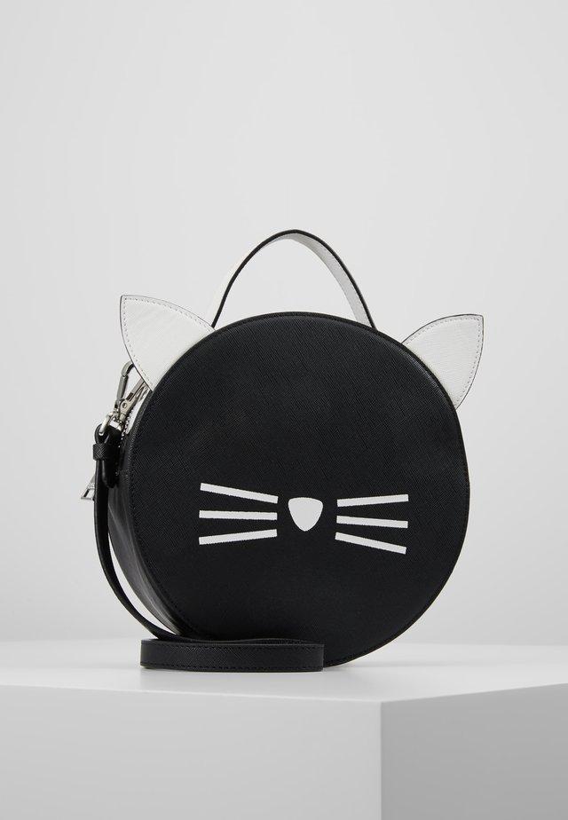 SHOULDER BAG - Umhängetasche - black/white