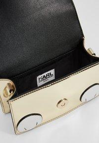 KARL LAGERFELD - SHOULDER BAG - Across body bag - white/yellow - 5