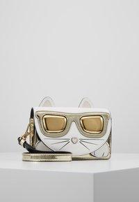 KARL LAGERFELD - SHOULDER BAG - Across body bag - white/yellow - 0