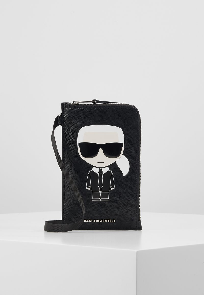 KARL LAGERFELD - IKONIK PHONE HOLDER - Skulderveske - black
