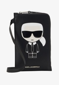 KARL LAGERFELD - IKONIK PHONE HOLDER - Skulderveske - black - 1