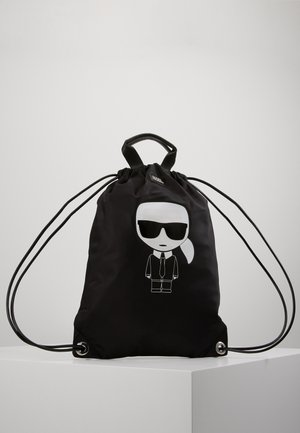 IKONIK FLAT BACKBAG - Ryggsekk - black