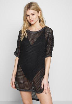 PIED-DE-POULE MAXI T-SHIRT - Beach accessory - black