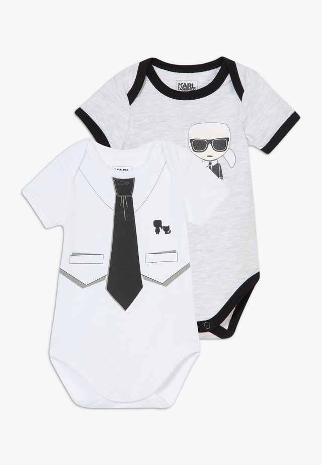 BABY 2 PACK - Body - grey/white