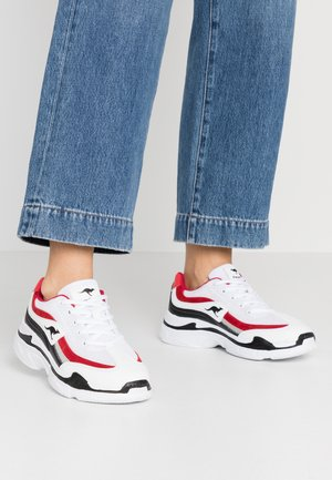 RAVE - Sneakers - white/red