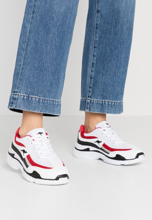 RAVE - Trainers - white/red