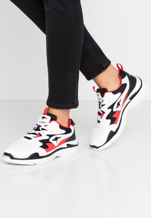 WAVE - Sneakers laag - white/jet black