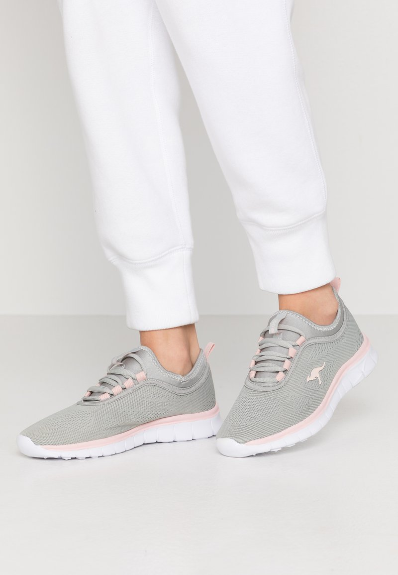 KangaROOS - K-RUN NEO - Sneakers - vapor grey/english rose