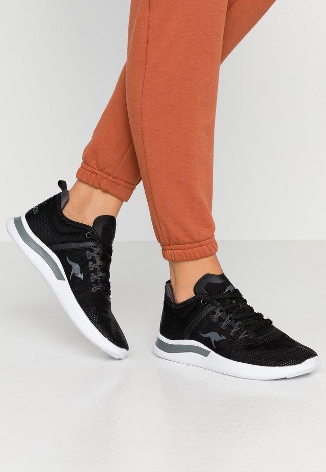 KG-NIMBLE - Sneakers laag - jet black/steel grey