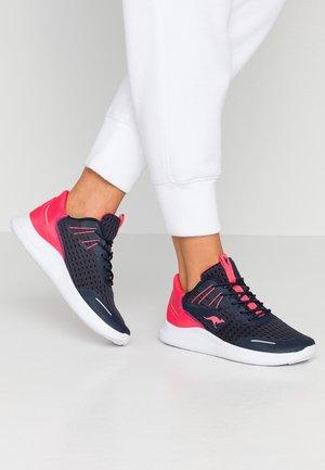 KG-DEFT - Sneakers - dark navy/neon pink
