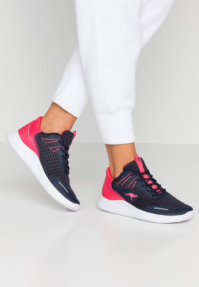 KG-DEFT - Sneakers basse - dark navy/neon pink