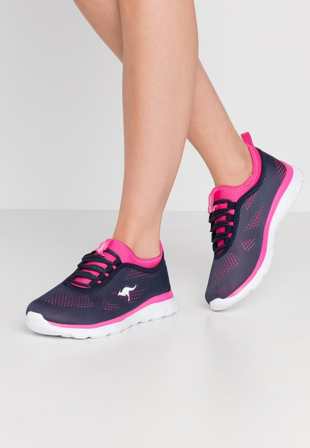 KN-RUN NEO - Sneakersy niskie - dark navy/daisy pink