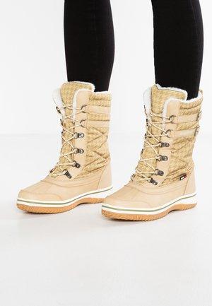RIVASKA - Zimní obuv - beige/green/white