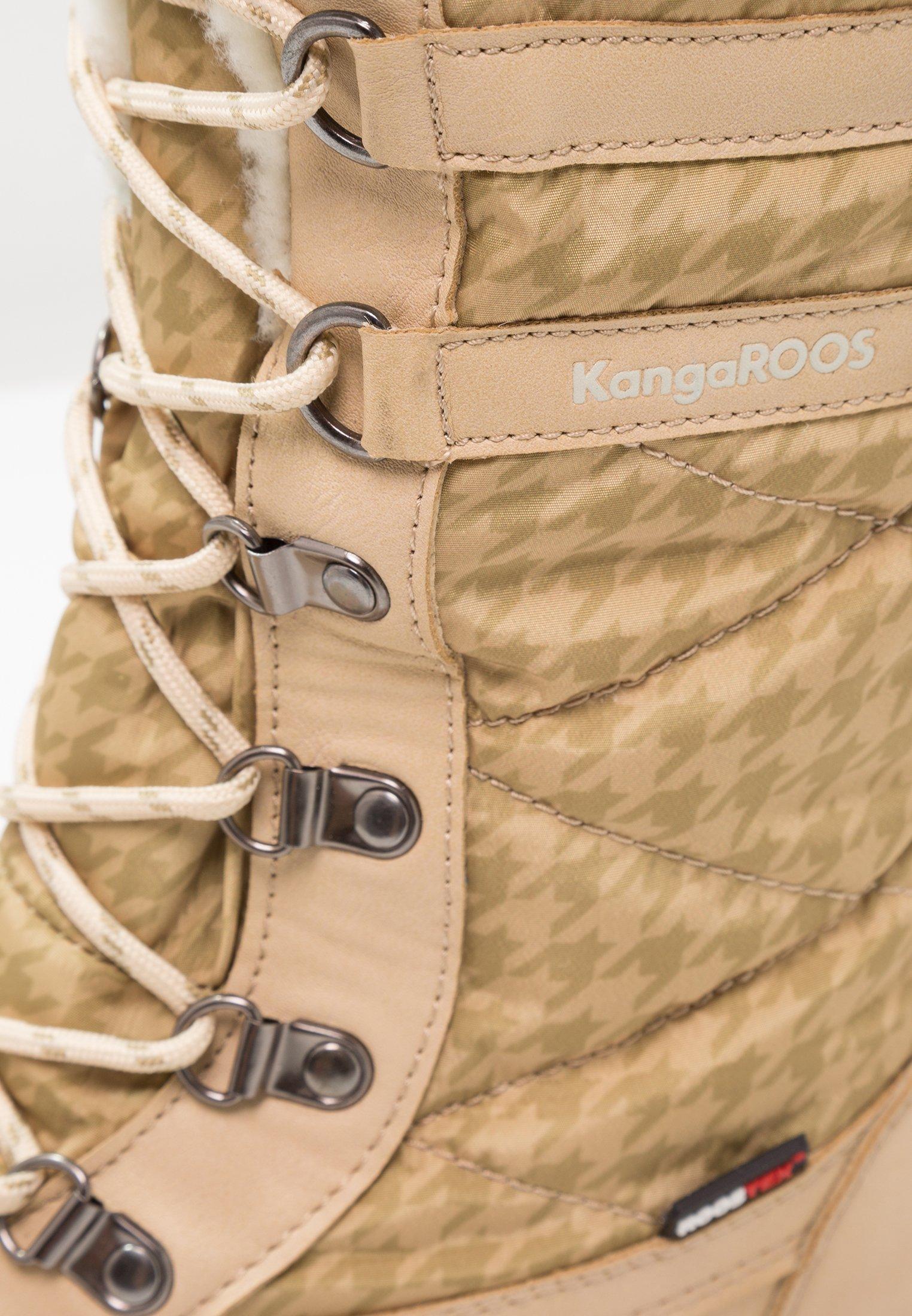 KangaROOS RIVASKA - Vinterstøvler - beige/green/white