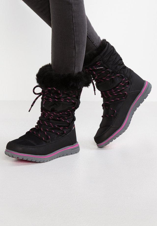 WOWI HUN - Snowboot/Winterstiefel - jet black/daisy pink
