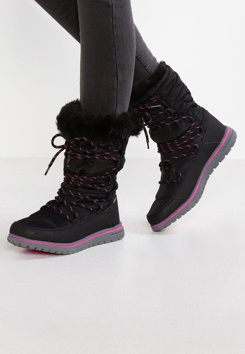 KangaROOS - WOWI HUN - Vinterstøvler - jet black/daisy pink