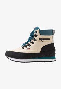 KangaROOS - WOODHOLLOW MTN - Šněrovací kotníkové boty - beige/blue - 0