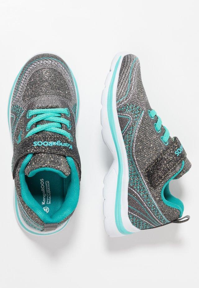 KANGAGIRL - Trainers - dark silver/turquoise