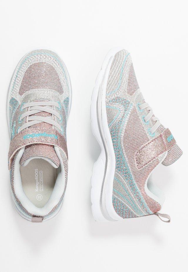 KANGAGIRL - Sneaker low - silver/baby blue