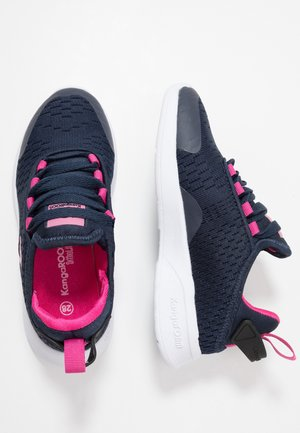 KF FLEX - Sneakers - dark navy/daisy pink