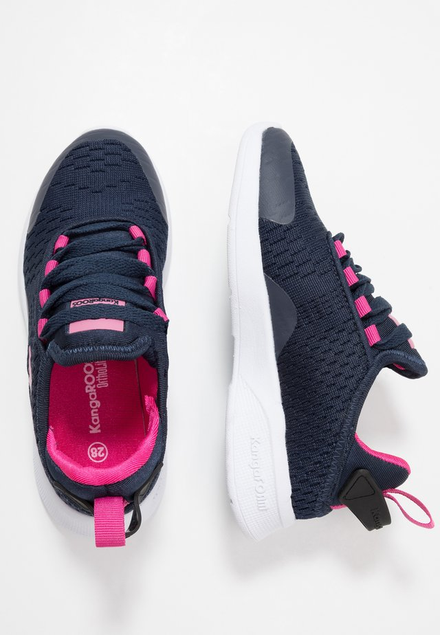 KF FLEX - Sneaker low - dark navy/daisy pink