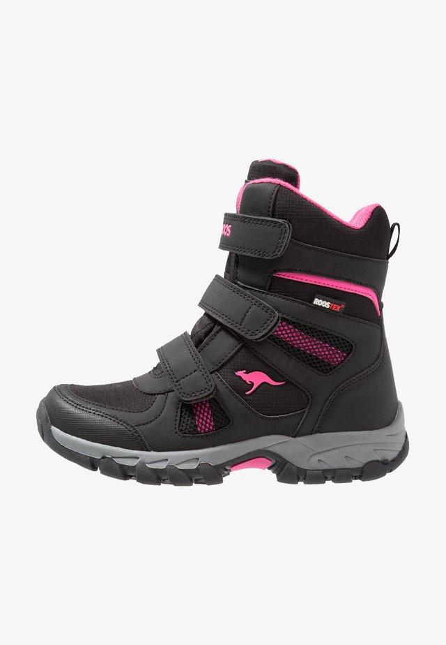 K-RANI - Laarzen - jet black/daisy pink