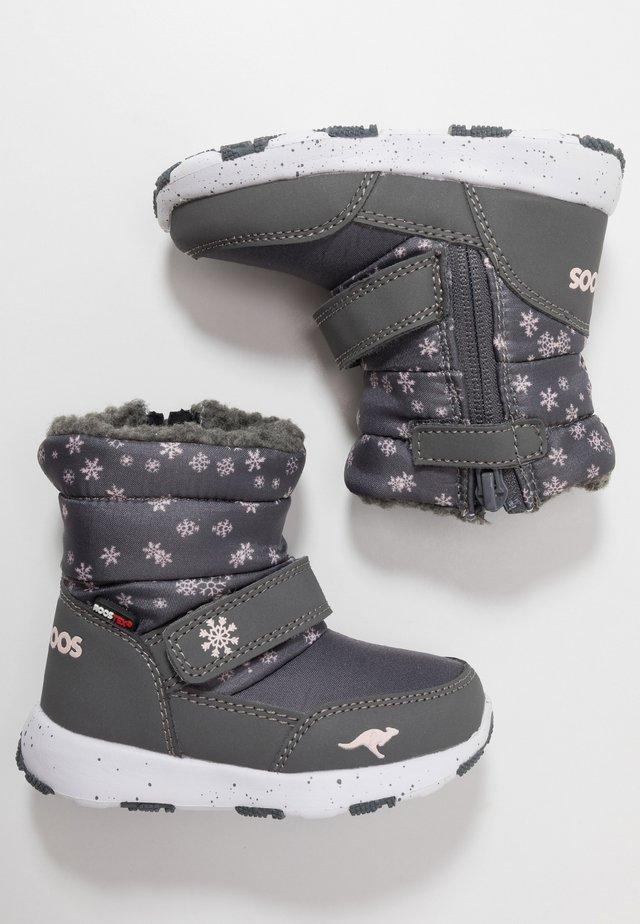 SNOWRUSH - Snowboot/Winterstiefel - steel grey/frost pink