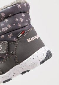 KangaROOS - SNOWRUSH - Talvisaappaat - steel grey/frost pink - 2