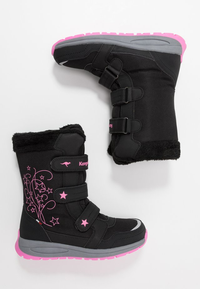 K-STAR BOOT RTX - Talvisaappaat - jet black/daisy pink