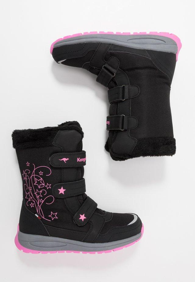 K-STAR BOOT RTX - Winter boots - jet black/daisy pink