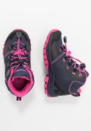 TRAIKER MID RTX - Lace-up ankle boots - dark navy/daisy pink