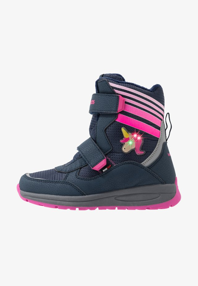FLASHY RTX - Snowboots  - dark navy/daisy pink
