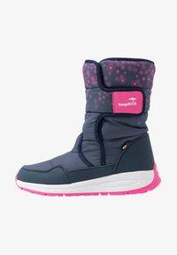 KangaROOS - K-FLUFF RTX - Zimní obuv - dark navy/daisy pink - 1