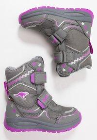 KangaROOS - K-PLUSH RTX - Zimní obuv - steel grey/purple - 0