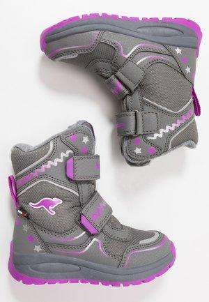 K-PLUSH RTX - Zimní obuv - steel grey/purple