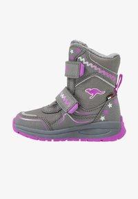 KangaROOS - K-PLUSH RTX - Zimní obuv - steel grey/purple - 1