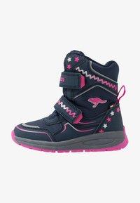 KangaROOS - K-PLUSH RTX - Zimní obuv - dark navy/daisy pink - 1