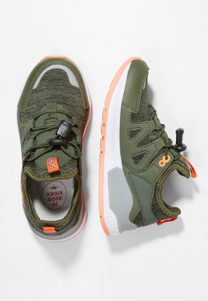 Rooskickx - ROOSKICKX ROOKI SL - Baskets basses - olive/orange