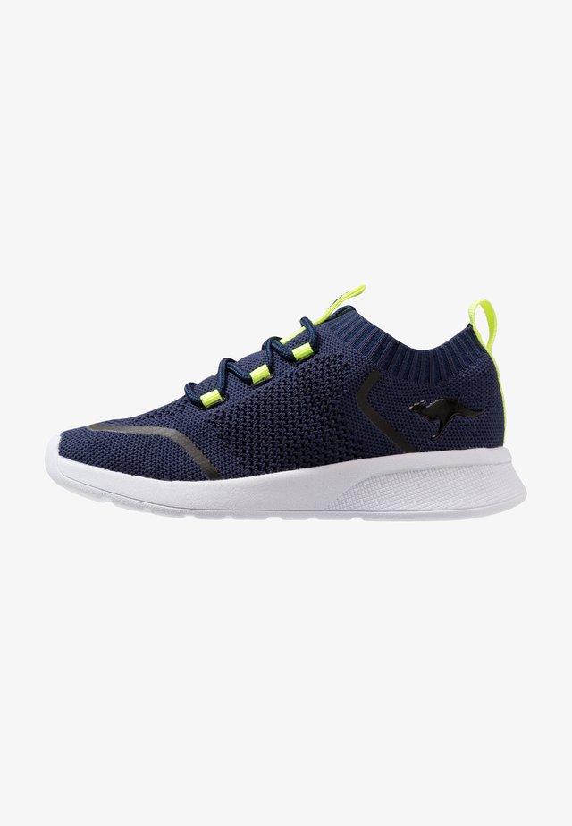KF WEAVE - Sneaker low - dark navy/lime