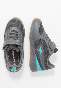 KangaROOS - SPRINT - Sneakers - steel grey/turquoise - 0