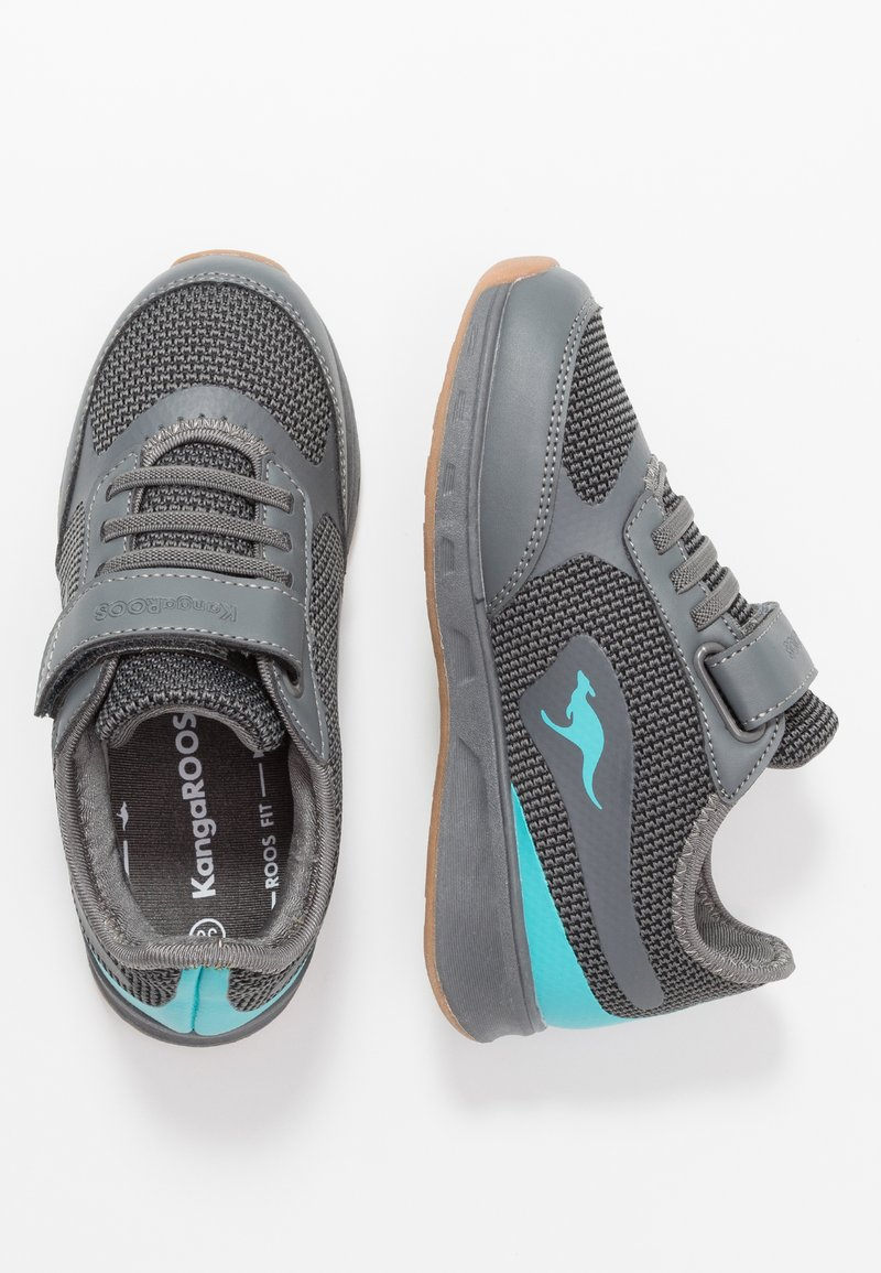 KangaROOS - SPRINT - Sneakers - steel grey/turquoise