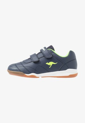 COURTYARD  - Sneakersy niskie - dark navy/lime
