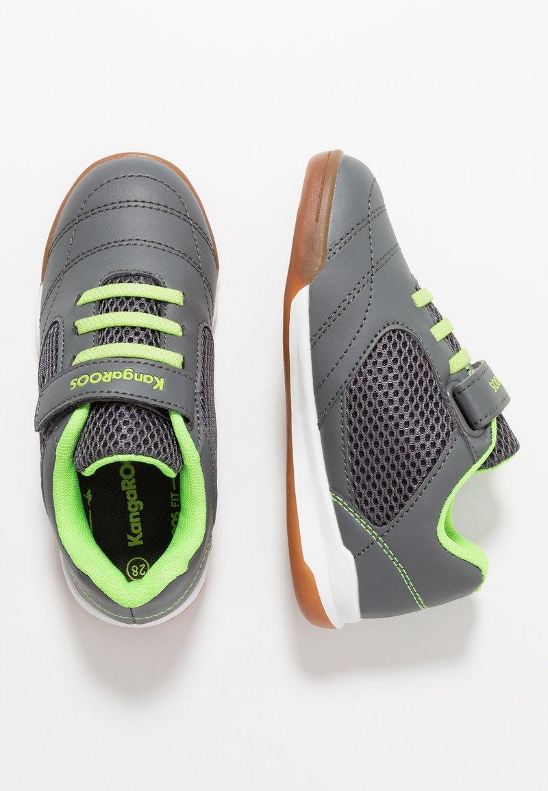 KangaROOS - INCOURT - Sneakersy niskie - steel grey/lime