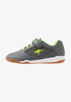 RACE YARD - Trainers - steel grey/lime