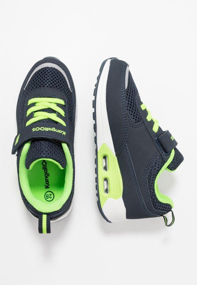 KANGA X 1600 - Sneakers - dark navy/lime