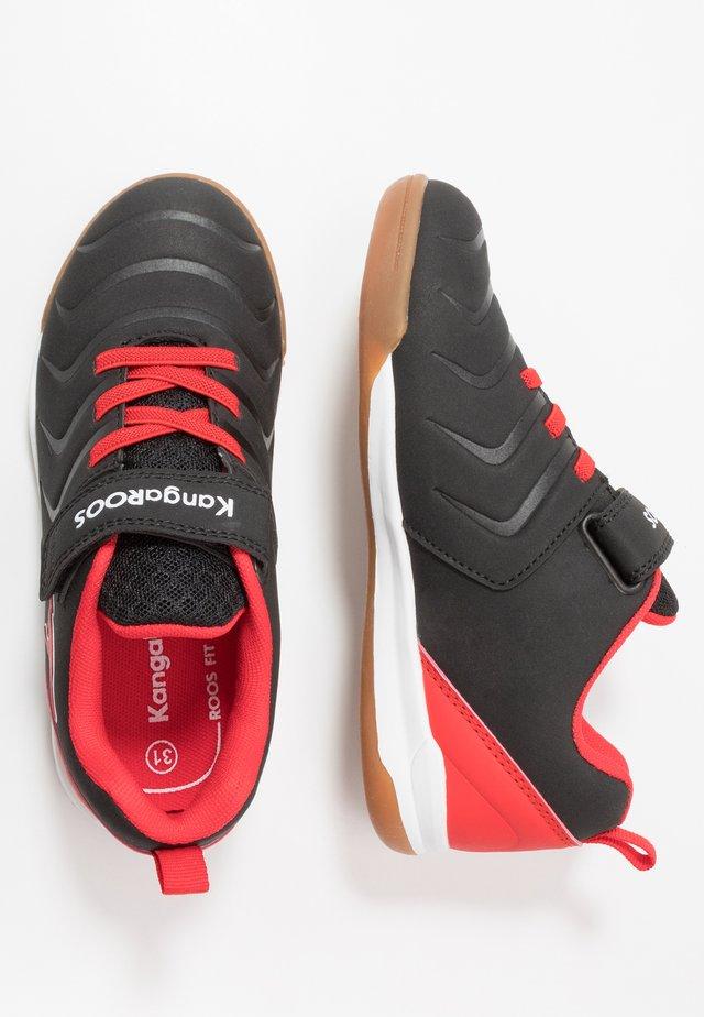 SPEED COMB - Sneaker low - jet black/fiery red
