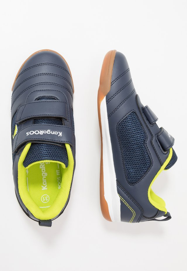 NICOURT - Trainers - dark navy/lime
