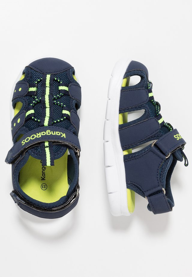 K-MINI - Sandals - dark navy/lime