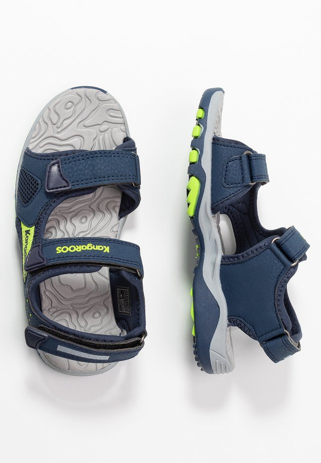 CELTIC - Walking sandals - dark navy/lime